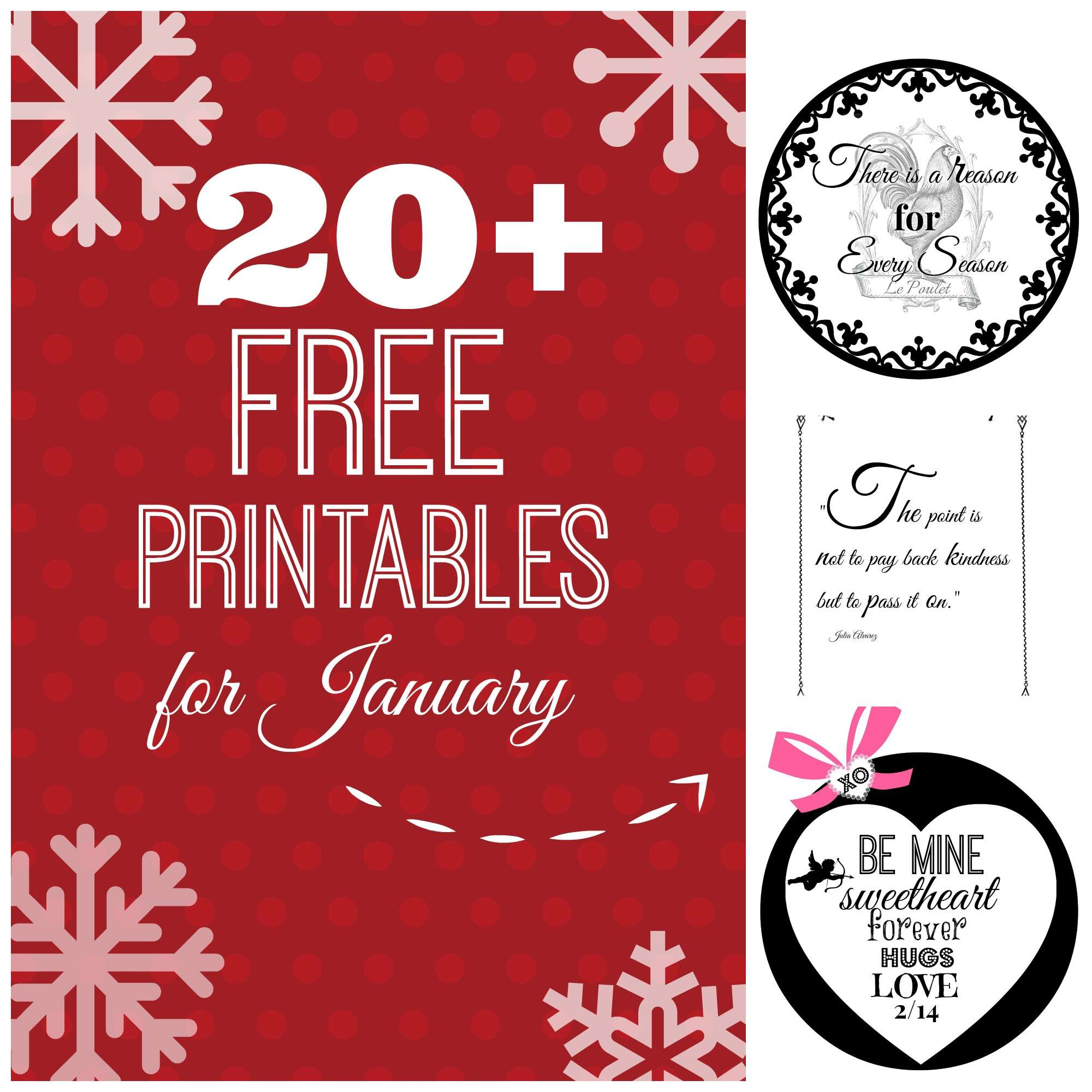 20 Free Printables For January