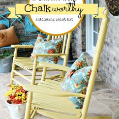 Diy Rocking Chair Kit Barber Chairs For Sale In Chicago Chalkworthy Painted Rockers Debbiedoos