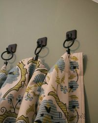 How to hang curtains with towel hooks - Debbiedoos