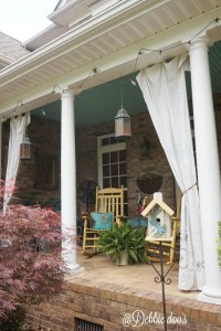 How to make drop cloth curtains for the porch or patio ...