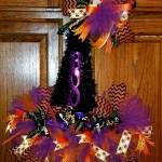 Dollar Tree Pumpkin And Witches Hat Wreaths Debbiedoos