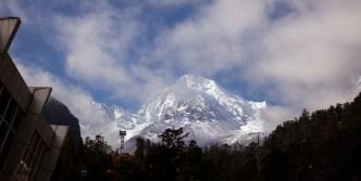 從第三號營地纜車站遠看貢嘎山