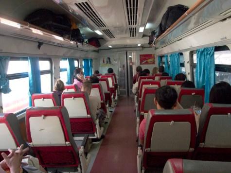 有空調的火車,很舒服