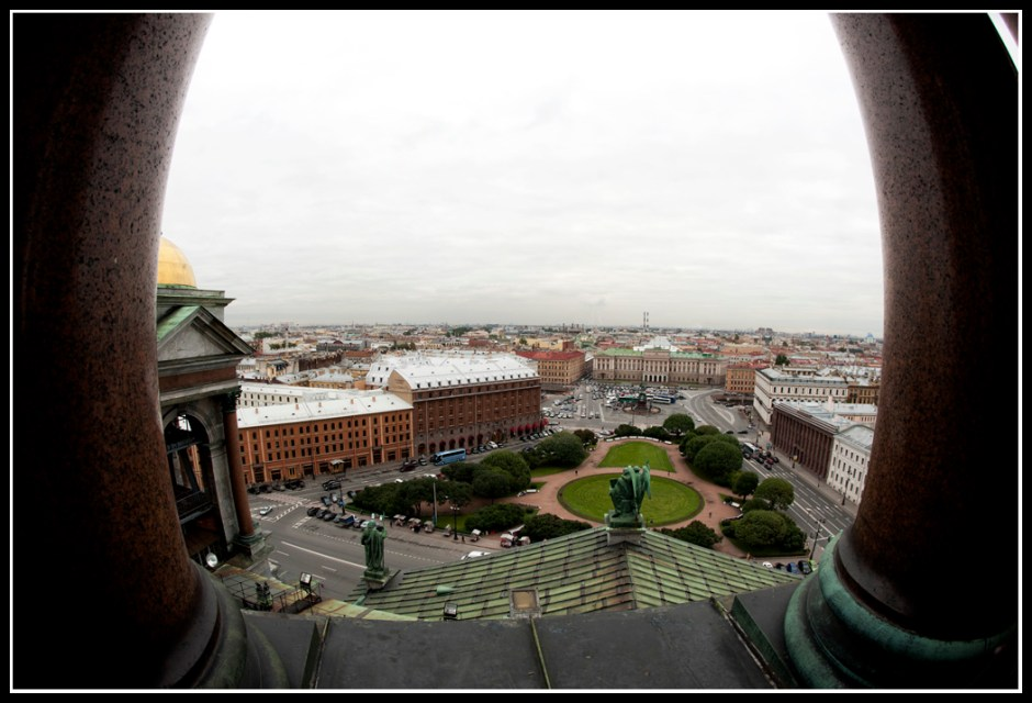 Spectacular view of the city, photo taken from the dome of the cathedral