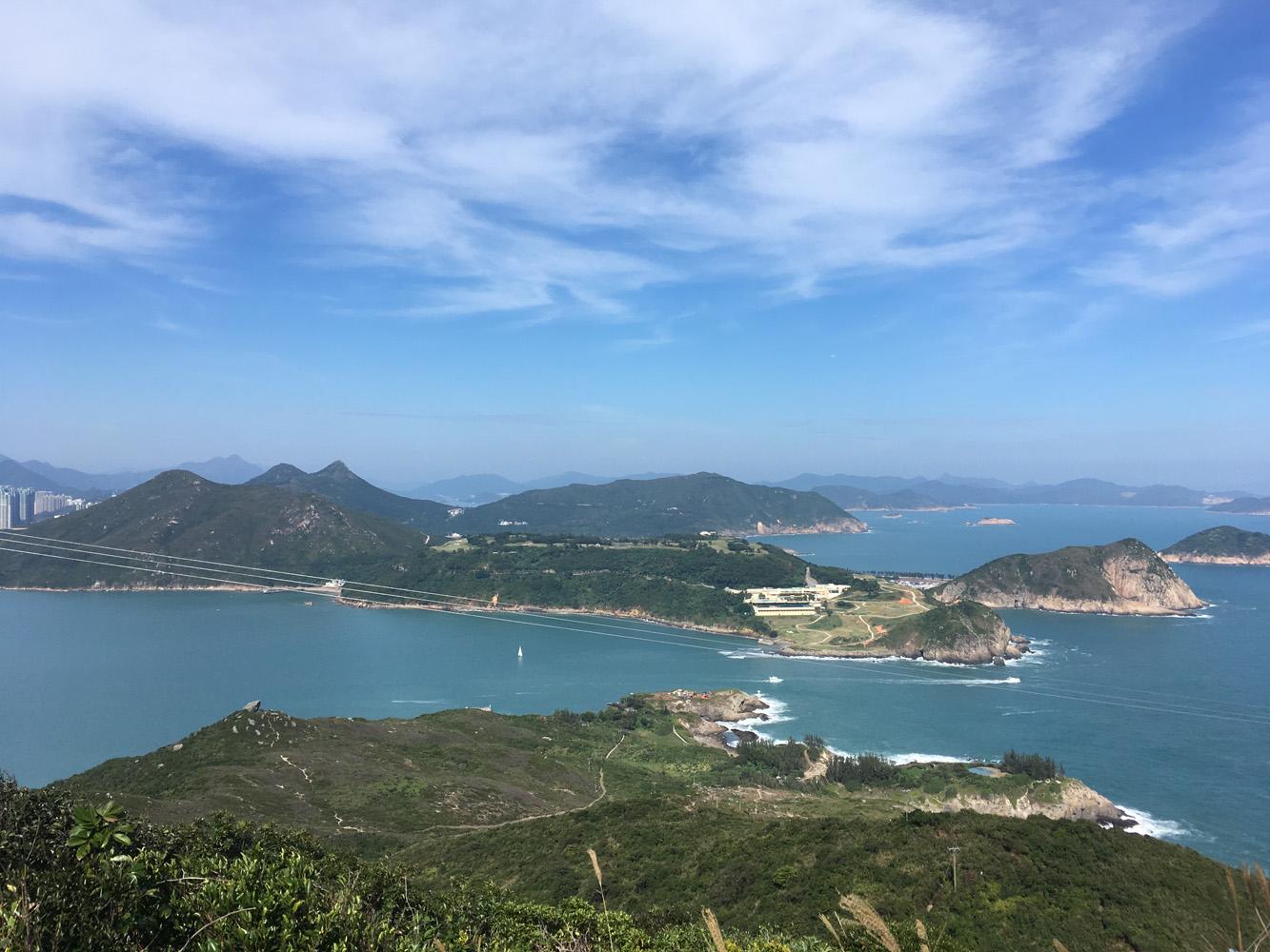 俯瞰清水灣半島南部