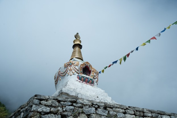 The white stupa on our way to Namche Bazaar