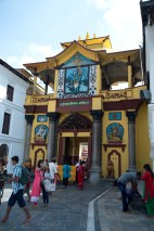 Entrance of the Hindu temple