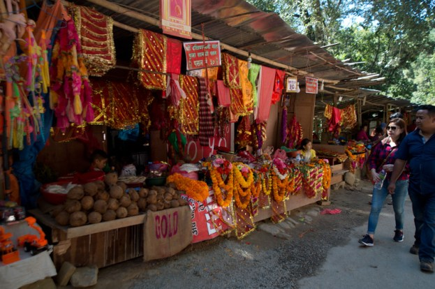 Shops selling all kinds of things for sacrification