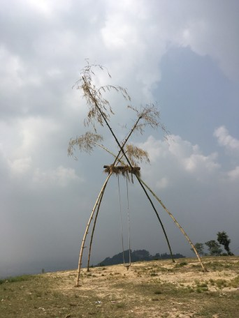 "Oct 10 to 19 is the most important Nepali festival - Dashain. Large swings ""Linge ping"" are set up for in the villages"