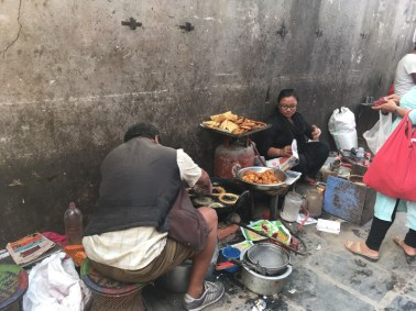 Deep fried food is very popular here and they usually just cook and sell on the street