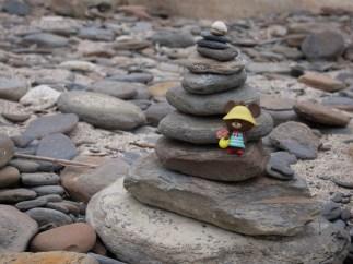 龍落水前的石灘