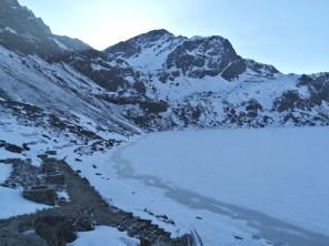 Frozen lake - Gosaikunda