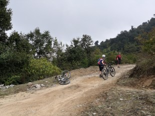 Group of cyclists from Sundarijal to Chisapani