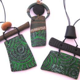 Debbie-Crothers-Polymer-Clay-Pendant-Necklace-Swellegant-Veneer