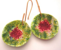 Debbie-Crothers-Polymer-Clay-Artist-Instructor-Leaves-Pendants-Earrings-BOHO