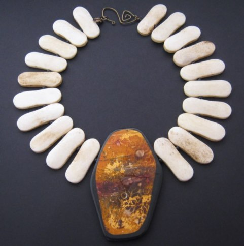 Debbie-Crothers-Polymer-Clay-Recycled-Beads-Statement-Necklace
