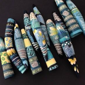Debbie-Crothers-Polymer-Clay-Artist-Instructor-Sculpey-Premo-Earthy-Organic-Crackle-Beads-Veneer