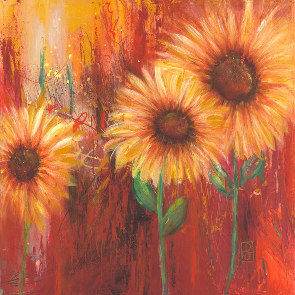 Three Wild Sunflowers