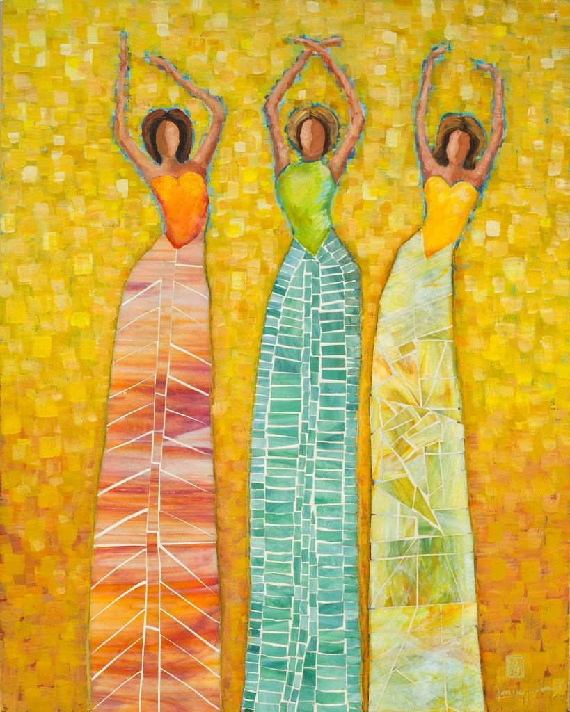 Three Mosaic Ladies