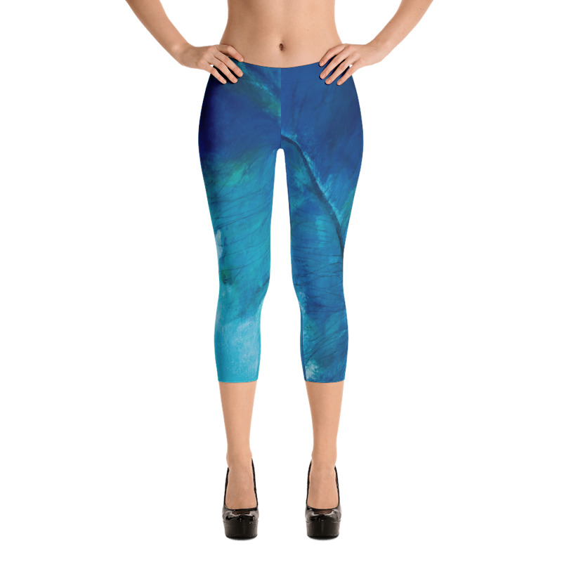 Blue Feather Capri