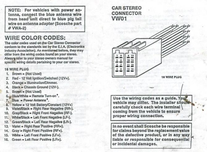 2001 vw passat radio wiring diagram  98 toyota tacoma