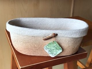 Avocado dyed bread basket  *sold
