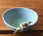 cotton rope bowl in shades of blue