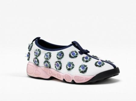 sneaker blanco rosa dior