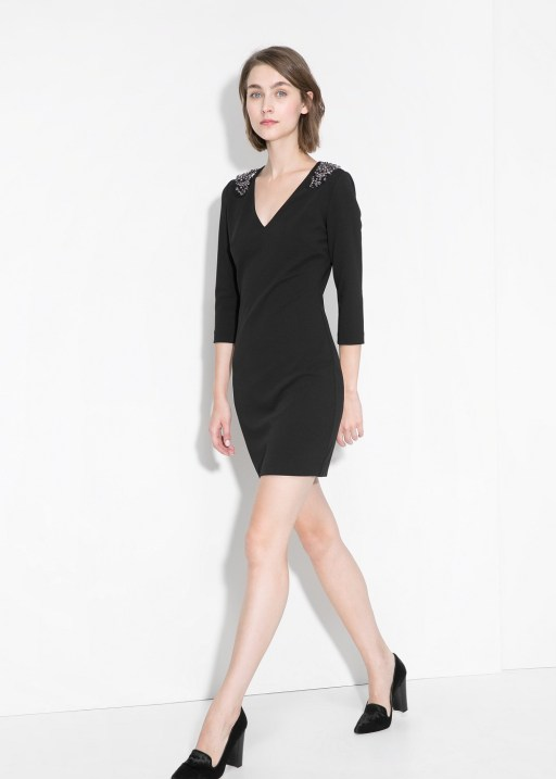 mango vestido negro