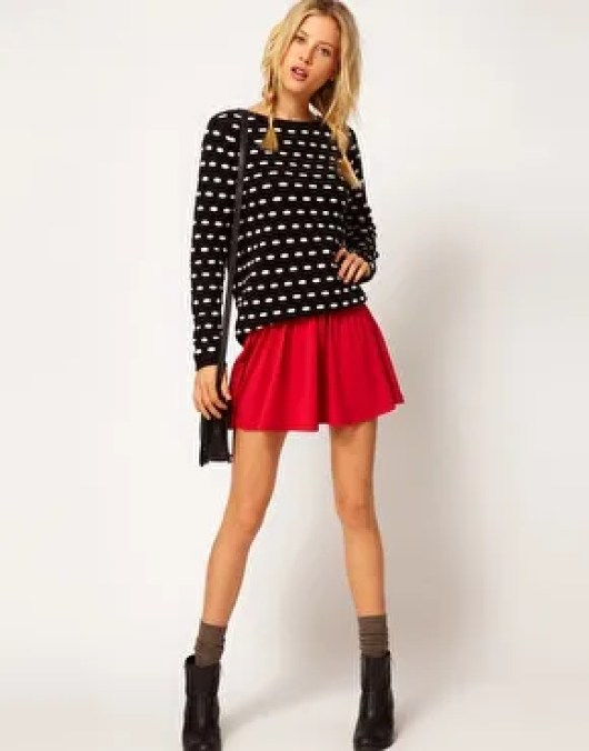 blusas para faldas cortas