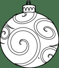 bola de navidad para colorear