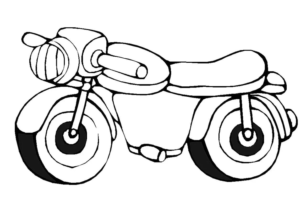 Moto Para Colorear