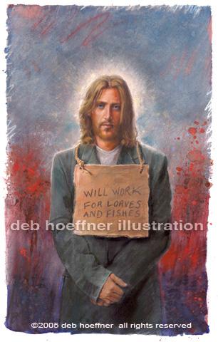 Jézus, Jesus, debb hoefner, homeless