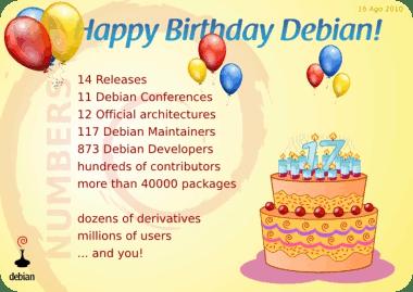 Motivación por el cumpleaños de Debian