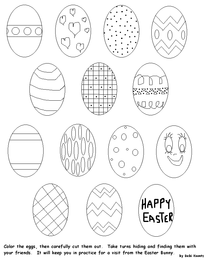 Joe Jonas brothers: coloring pages of easter eggs