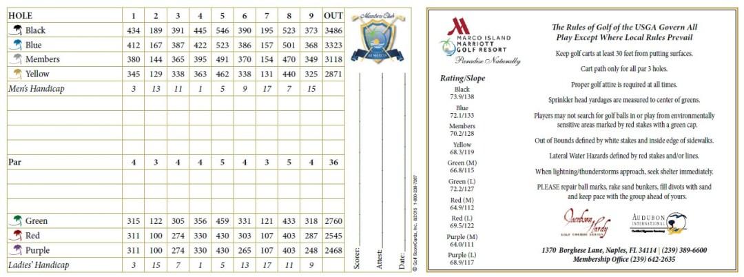 Hammock Bay Scorecard