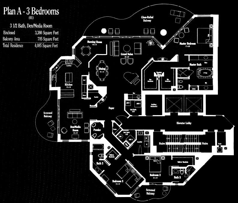 Brighton at Bay Colony Plan A Floor Plan