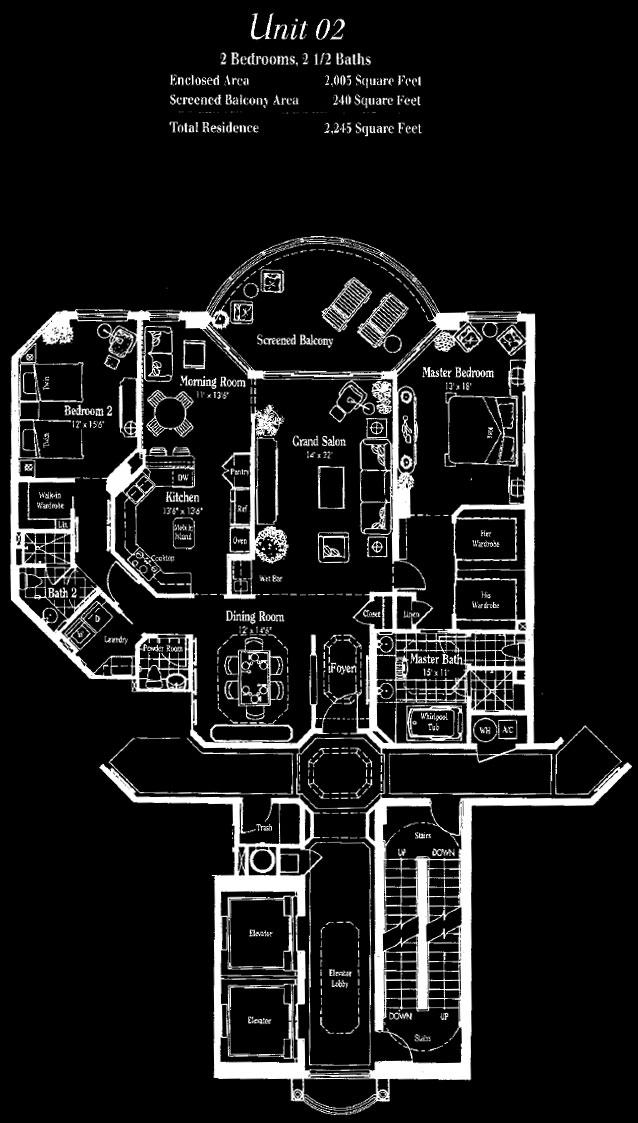 Marquesa at Bay Colony 02 Floor Plan