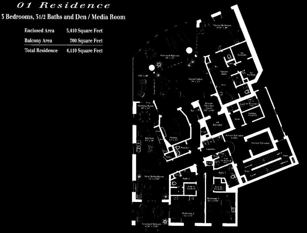 Remington at Bay Colony 01 Floor Plan