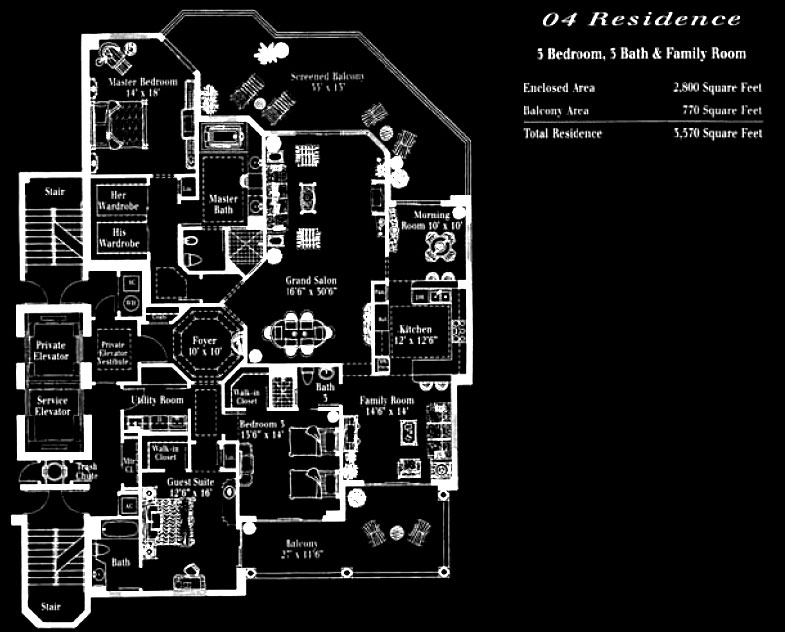 Toscana at Bay Colony 04 Floor Plan