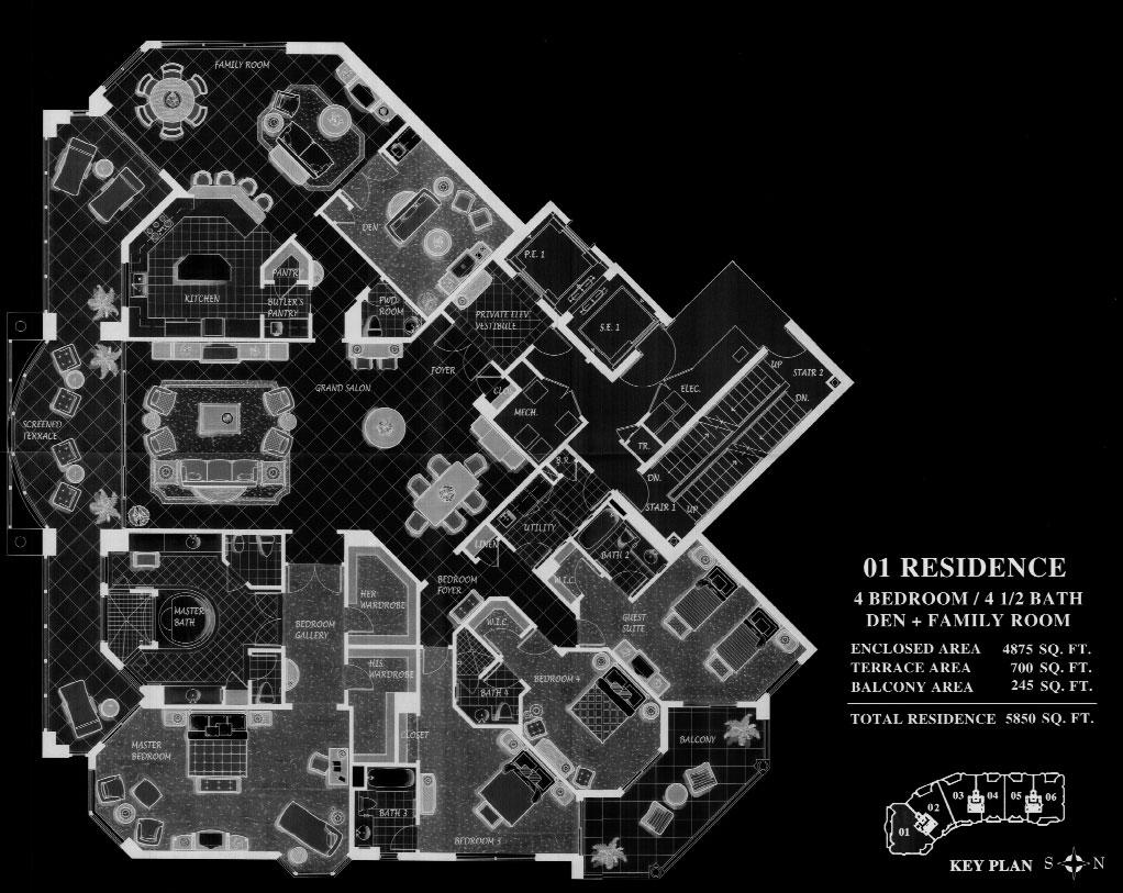 Trieste at Bay Colony 01 Floor Plan