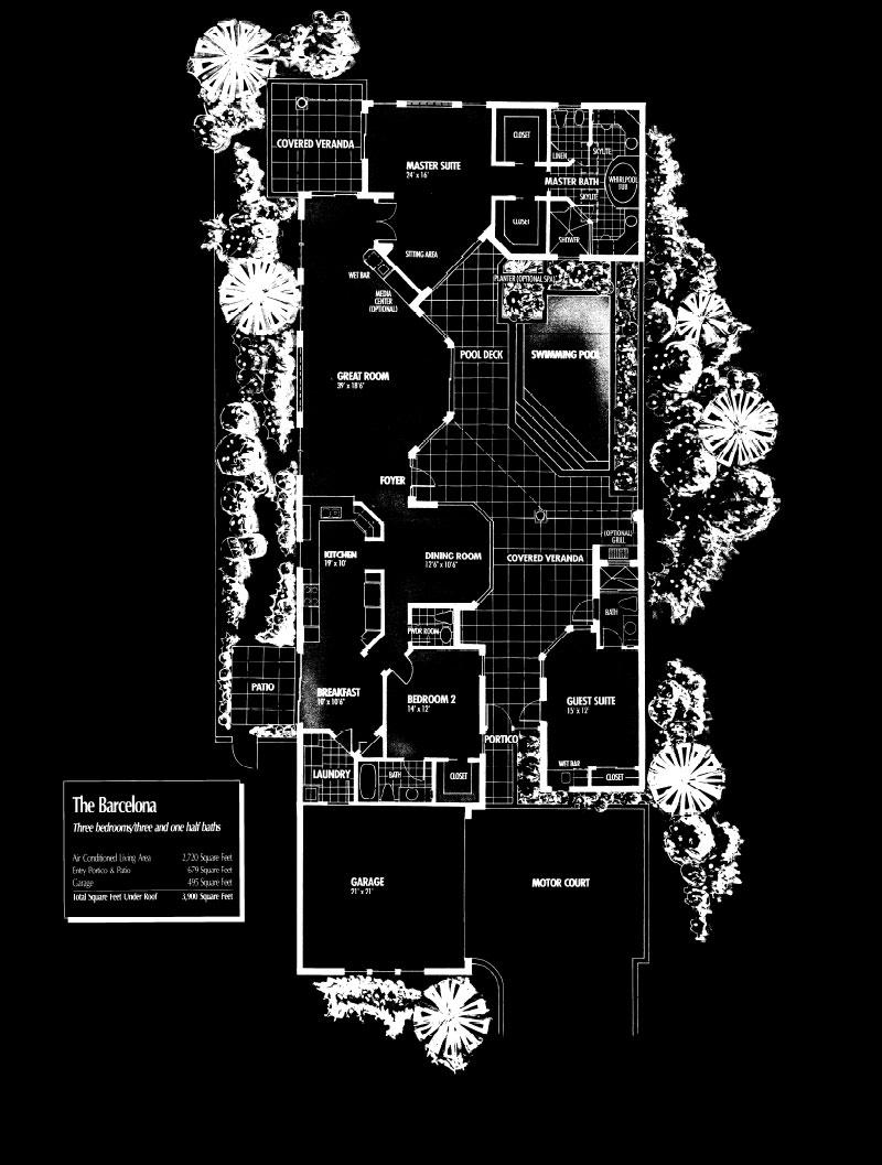 Vizcaya at Bay Colony Barcelona Floor Plan