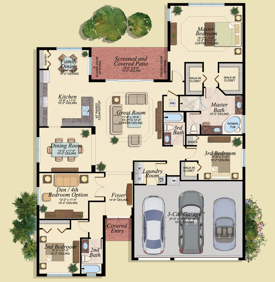 Andalucia Floor Plan - Marbella Lakes