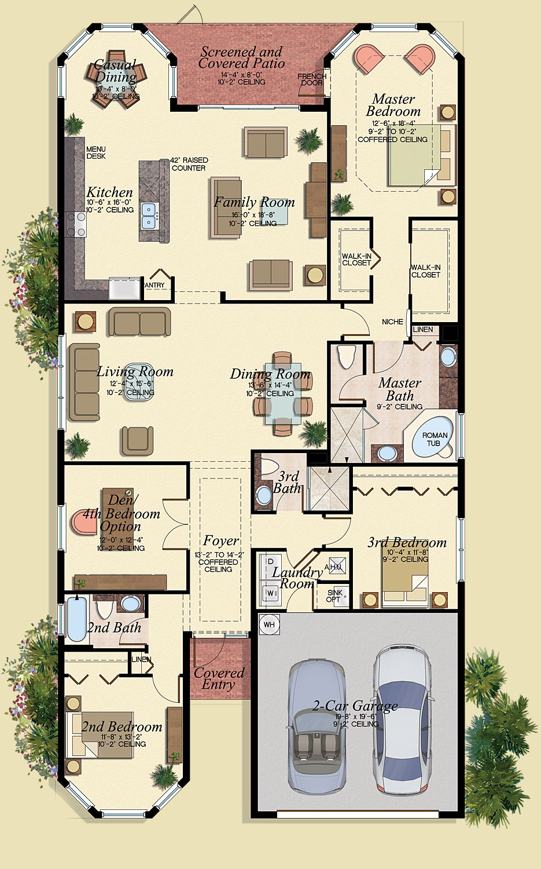 Cordoba Floor Plan - Marbella Lakes