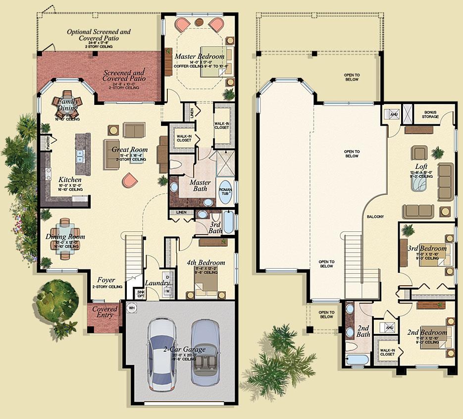 Granada Floor Plan - Marbella Lakes