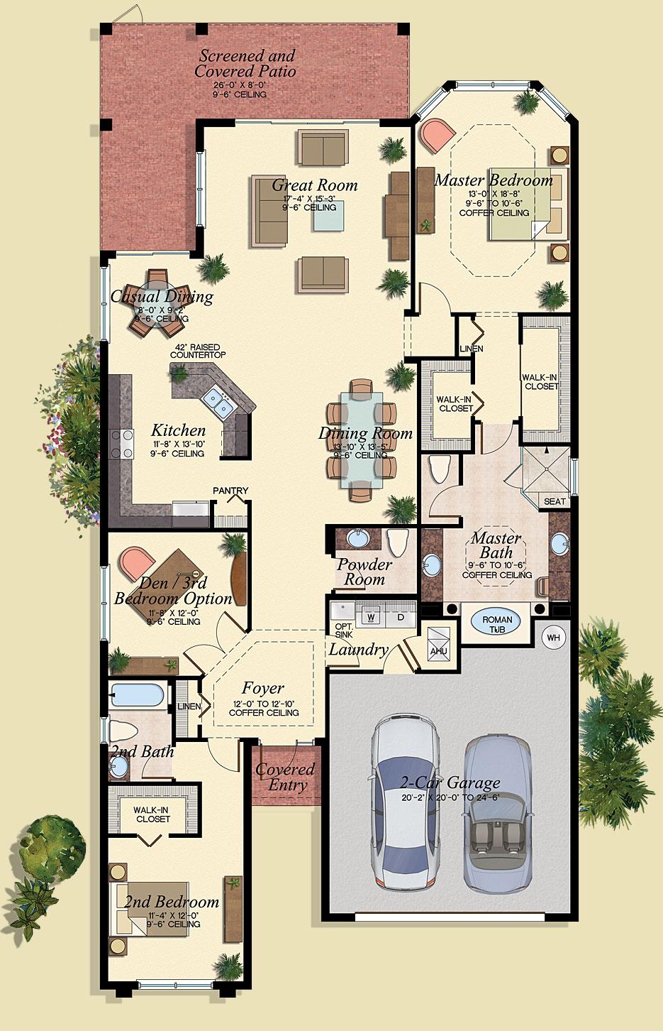 Santiago Floor Plan - Marbella Lakes