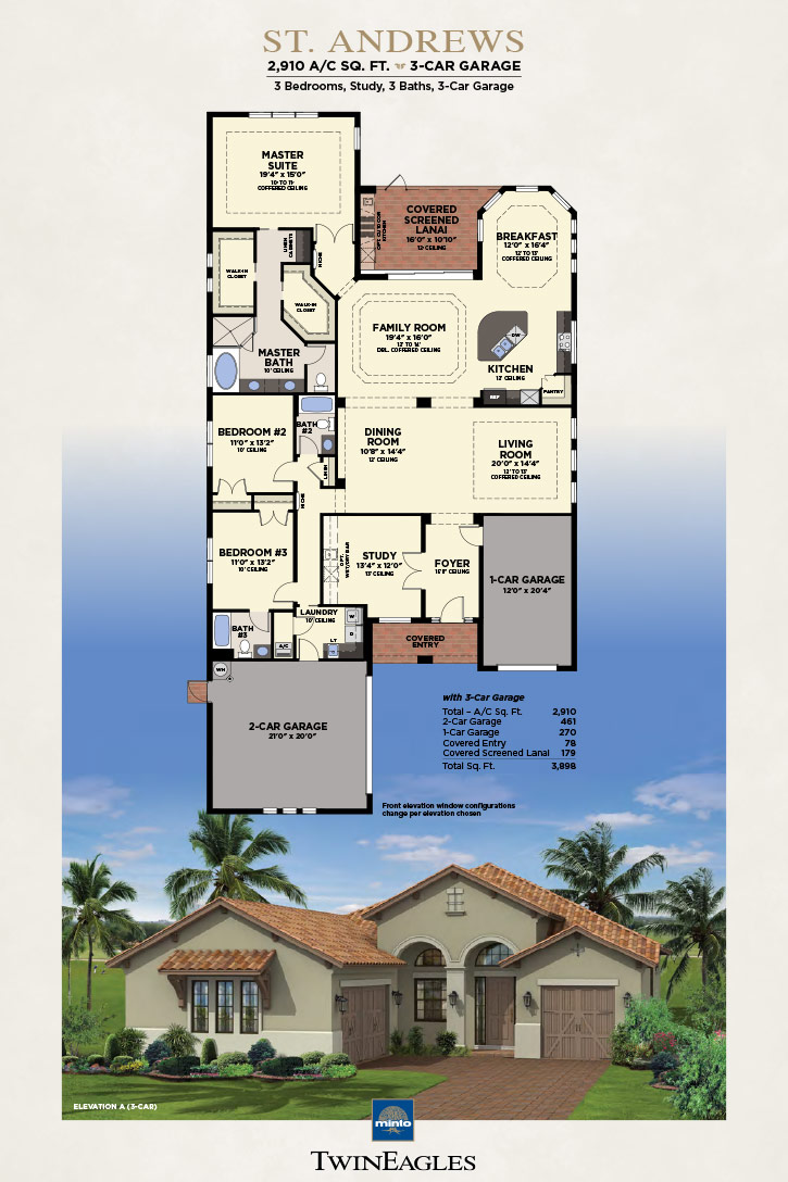 Minto Twin Eagles St. Andrews Floor Plan