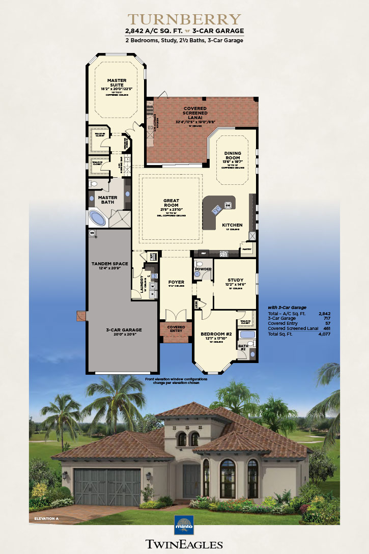 Minto Twin Eagles Turnberry Floor Plan