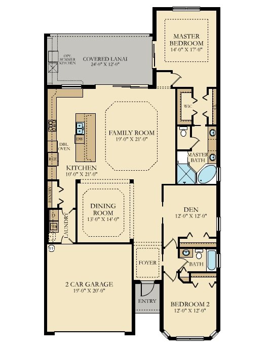 Lennar Twin Eagles Angelina Floor Plan