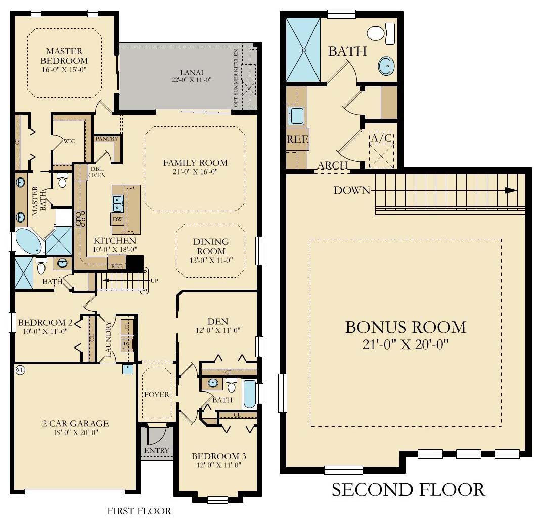 Lennar Twin Eagles Catalina Floor Plan